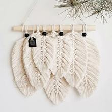 macrame feather wall hanging boho large wall decoration hanging wholesale customized color