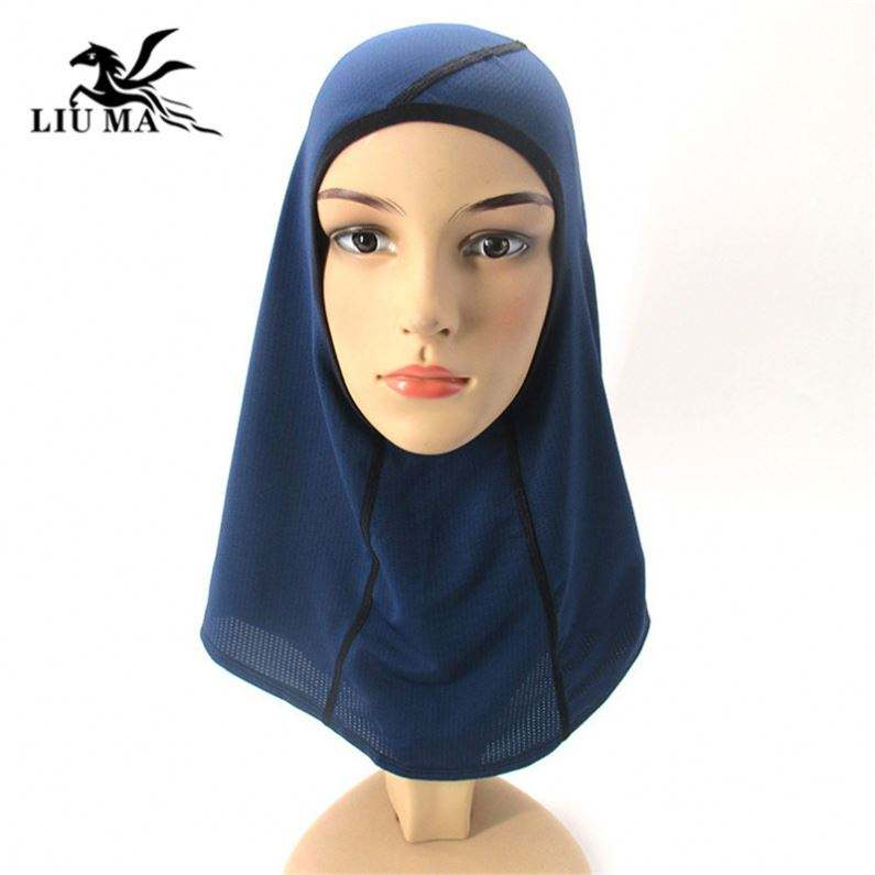 2020 New Hot Selling Muslim Hijab Breathable Sports Turban Stretchy Sports Hijab