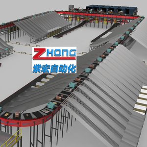 Professional Customized Logistics Sorting System Parcel Automatic Sorting Machine Roller Conveyor for Postal
