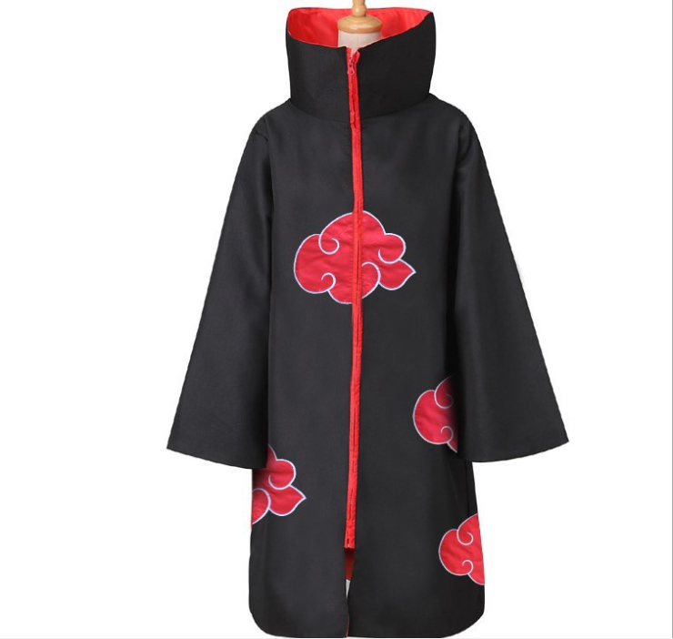 Ready to ship 2020 Akatsuki Cloak Anime Cosplay Costume Red Cloud Robe Four Generations Six Generations Halloween Cloak