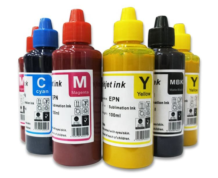Super high transfer rate sublimation printing ink 100ml for heat transfer printing