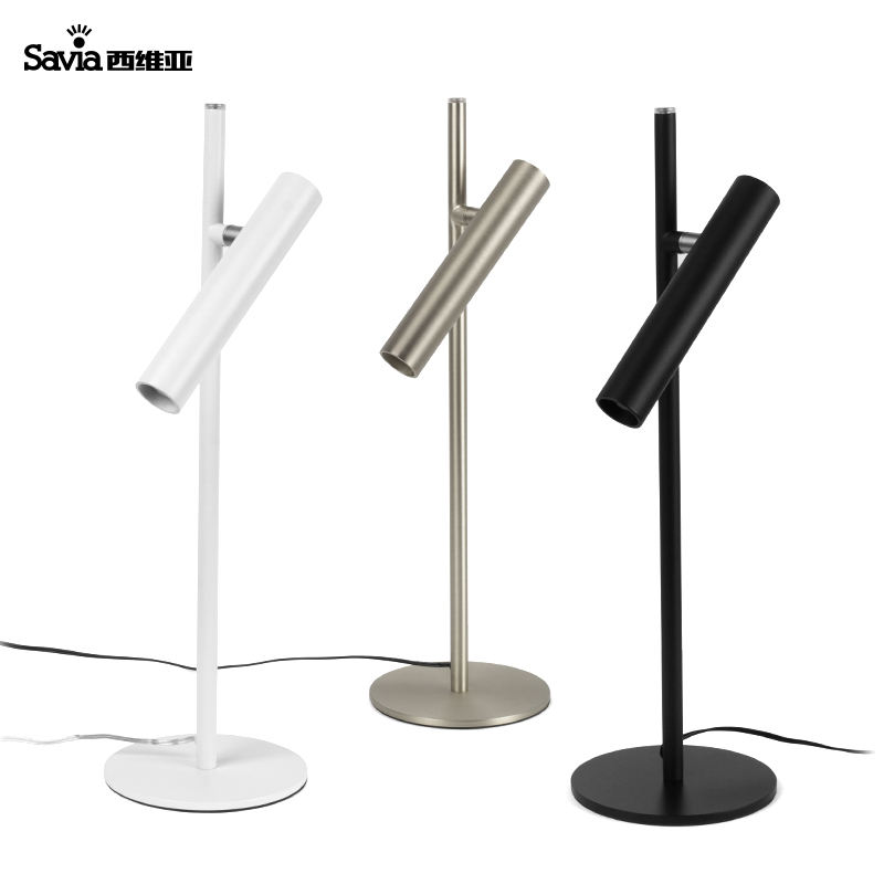 Savia Aluminum Iron LED Desk Reading Light Table Lamp Modern Standing Adjustable Dimmable For Home