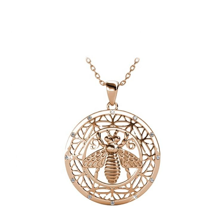 Destiny Jewellery accessories lasted design 18k gold plated bee pendant necklace made with Crystals
