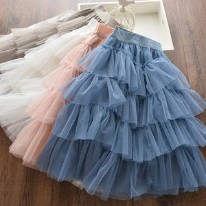 2020 New Children Girl Spring Autumn Lace Ruffle Skirt for 3-8 Years