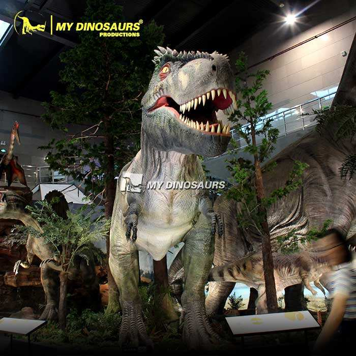 MY DINO AD112 Jurassic Animatronic Dinosaur Realistic T-Rex Model for Theme Park Exhibition