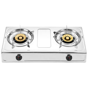 2020 hot sale 2 burner table top cash iron gas burner stove automatic ignition gas stove