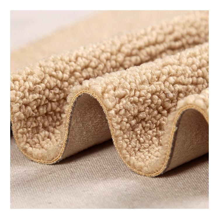 New 100% Polyester Sherpa Fabric Sherpa Fleece Bonded Suede Fabric