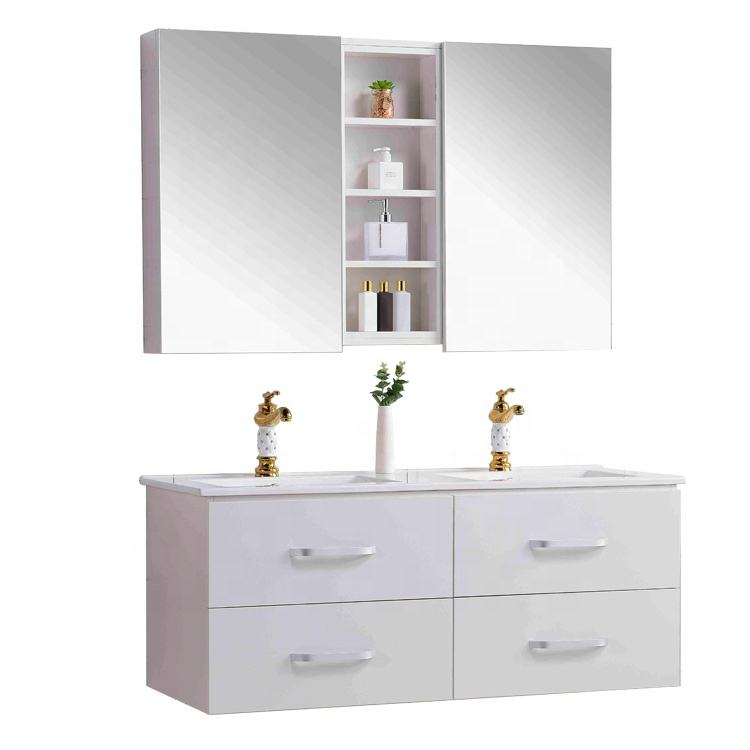 Bathroom Furniture Cabinets Storage Commercial Double Sink Bathroom Vanity
