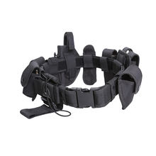 Police Uniform Tactical Rigger Belt And Holster,High Quality Police Duty Military Supplies Tactical Elastic Belt Black