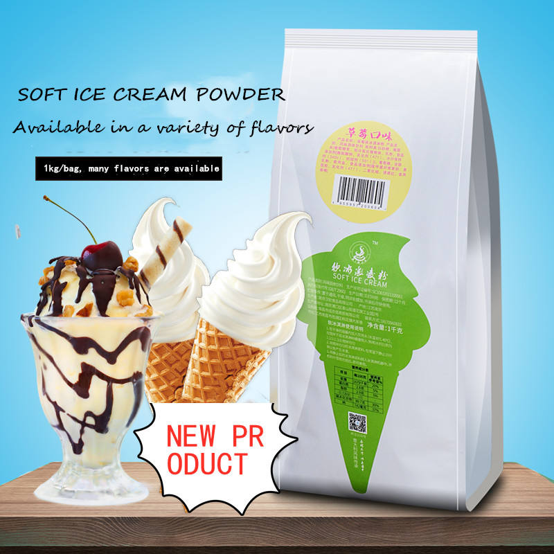 A variety of flavors to choose Soft Serve Ice Cream Powder Mix