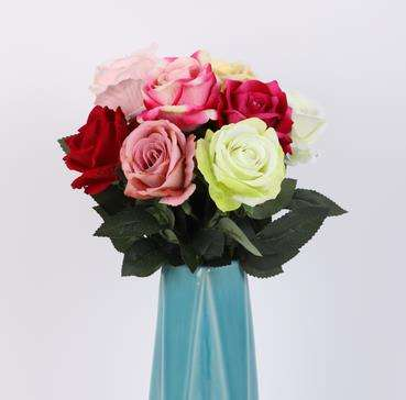 velvet rose new style flower head artificial fabric flower bouquets arrangement for Wedding and events decor