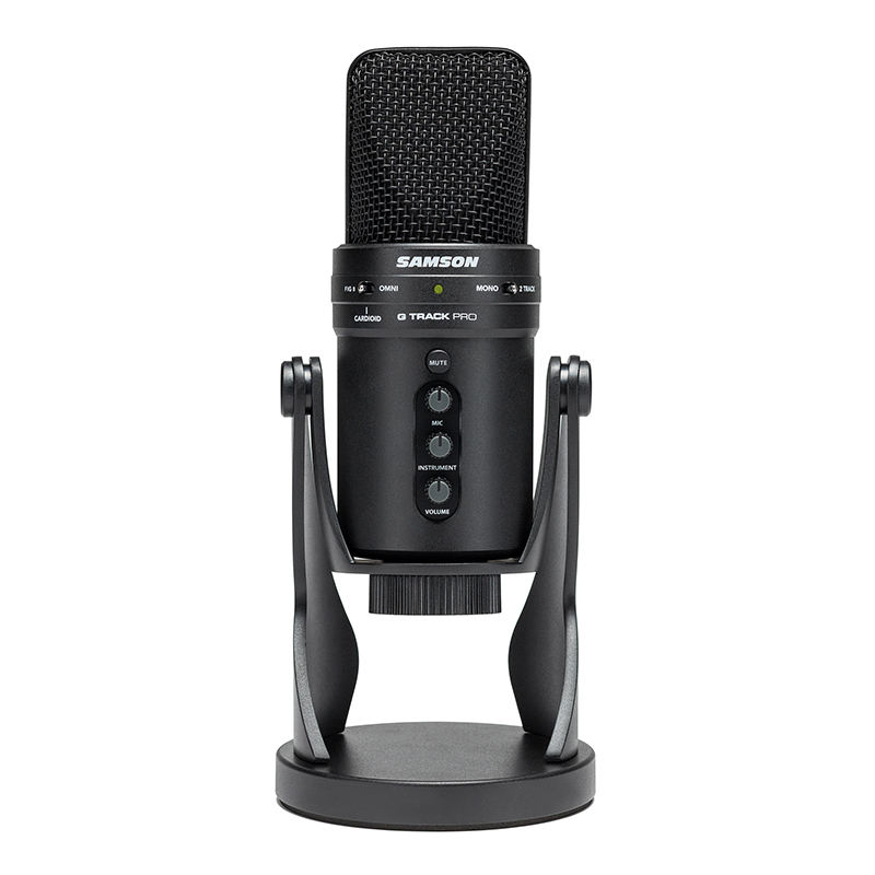Samson G-Track Pro Studio USB Professional Microphone with Audio Interface Podcast Streaming Singing Condenser Tablet Recording