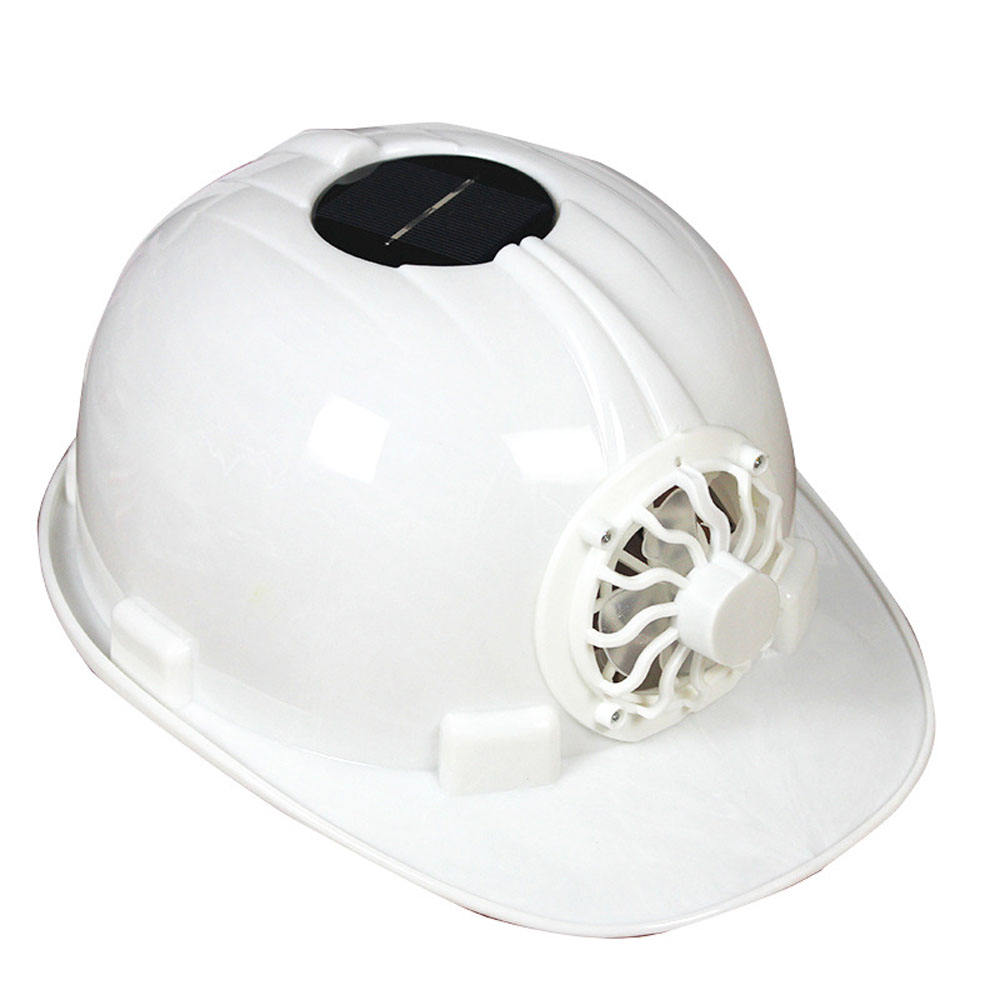 Solar Power Fan Working Helmet Safety Hard Hat Construction Workplace ABS Safety Helmet With Built-In Solar Fan