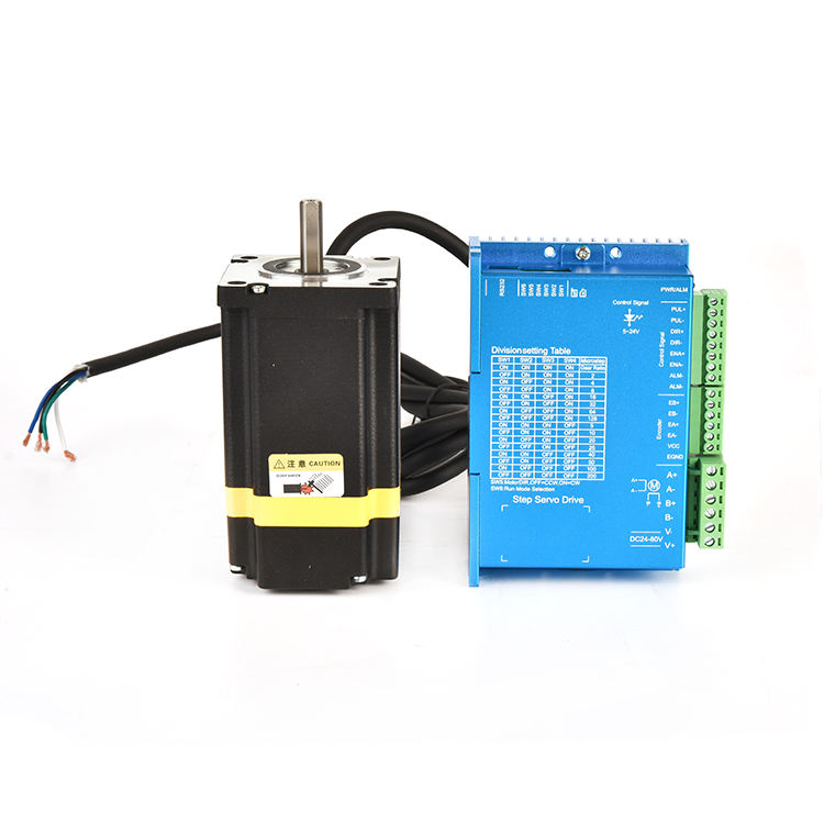 84mm holding torque 2.2 nm nema 23 closed loop hybrid stepper servo motor with 1000 lines encoder cnc kit