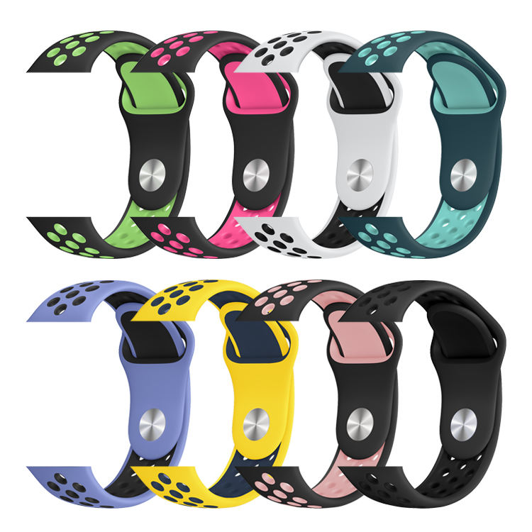 Series 6/SE Sport Style Multicolor Silicone Apple Watch Band for Iwatch Series 6 5 4 3 2 1