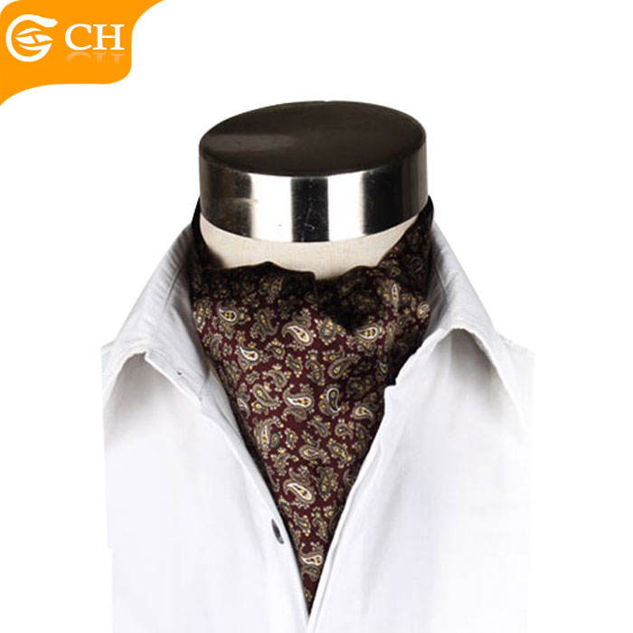 100% Silk High Quality Design Burgundy Cravat