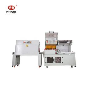 DUOQI DQL-5545 + SM4525 L bar heat sealing and cutting sealer automatic shrink wrapping machine