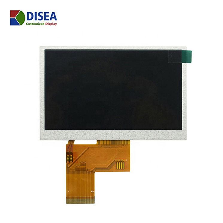 Tela de 4.3 polegadas tft 40PIN painel RGB 480X272 sem tela sensível ao toque, sol legível 1000nits