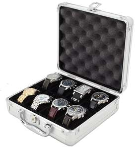 Customized size luxury aluminum watch case with soft foam