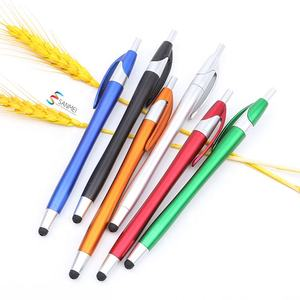 Black modern 2in1 multifunction stylus promotional plastic ball pen