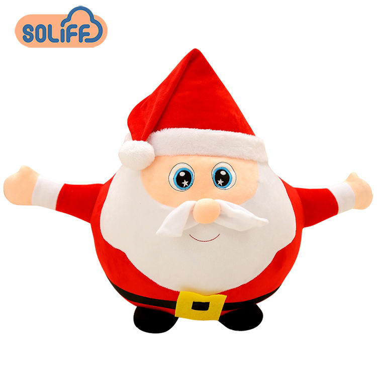 Led Santa Claus and Elk Soft Dolls Light Up LED Polar Stuffed Plush Toy Colorful Glowing Christmas Gift for Kids