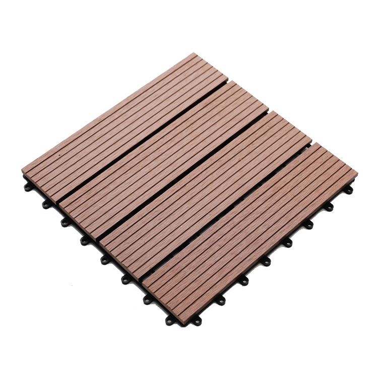 Fabriek Levering Water-Proof <span class=keywords><strong>Wpc</strong></span> Tegels Hout Kunststof Composiet Vloertegel <span class=keywords><strong>Wpc</strong></span> Diy Vloeren Outdoor Decking Tegels
