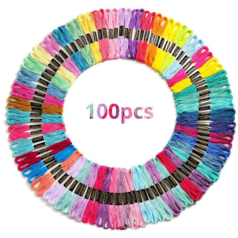 High quality fresh color Sewing Skeins Embroidery Thread Floss Kit Floss for Embroidery