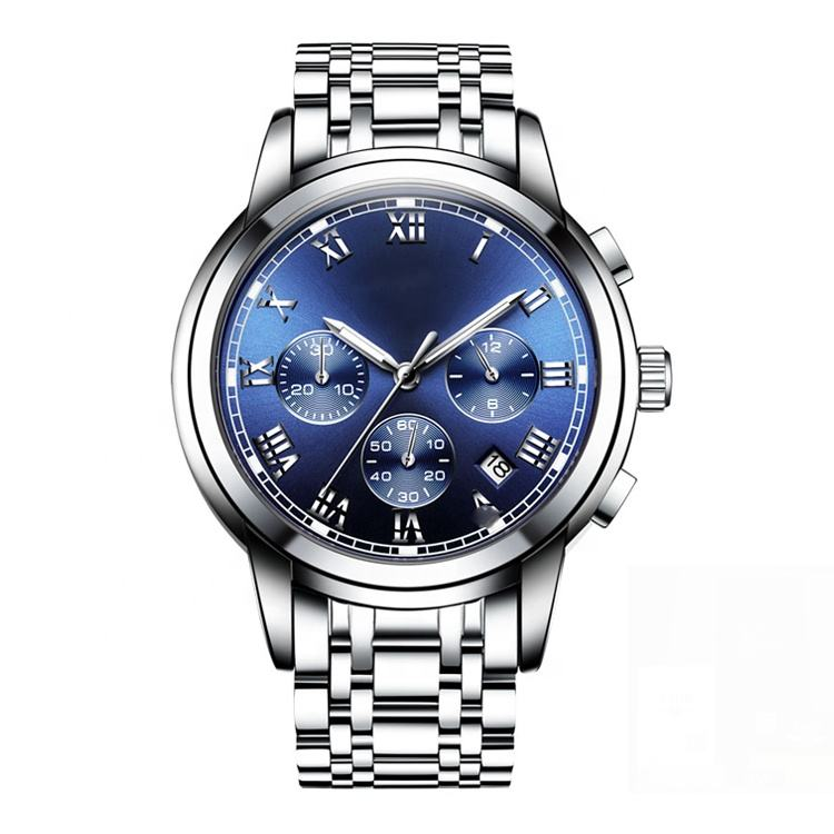 Oem watch brand China stainless steel back to China to make private labels mens watches in wristwatches