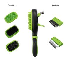 Pet Hair Grooming Tool Double Sided Massage Deshedding Dematting Pin And Bristle Brush Comb For All Breeds Dogs Cats
