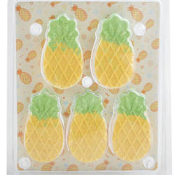 Bath Bombs/Fizzers, 5*65g 2 colors pineapple shape bath bombs/fizzers (green with yellow)