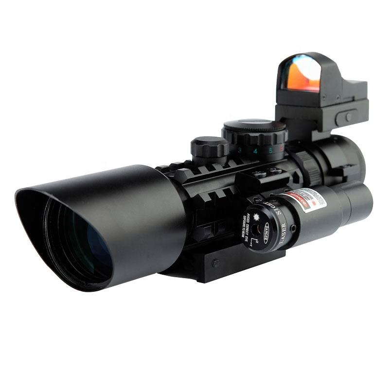 3-10x40 Rifle Scope Sight Red Dot Sight Laser Pointer Riflescope
