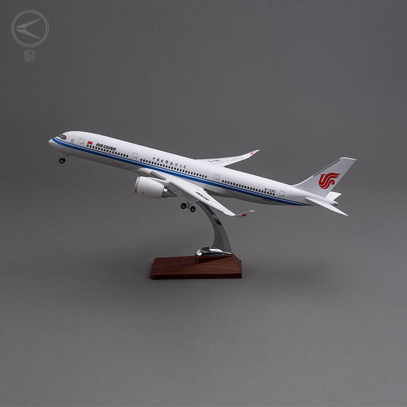 Airbus A350 Air China 47cm static display plastic plane model for business gift collection decoration