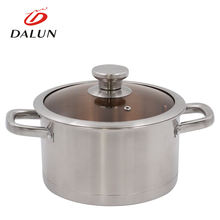 Commercial soup pot edible two hollow handle cookware stainless steel stock pot