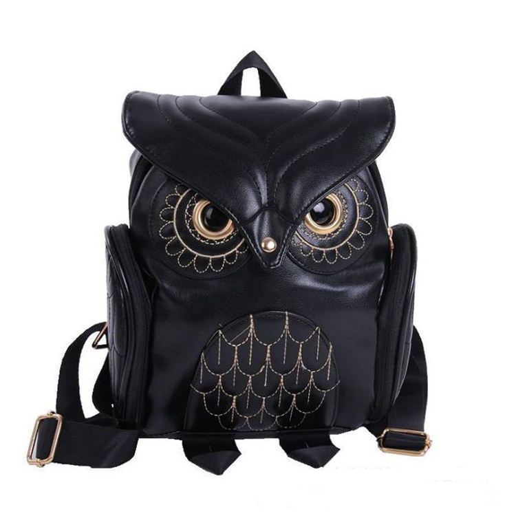 Foreign Trade Japan And South Korea Trend Women'S Owl Backpack Casual Travel Bag Fashion Personality Cartoon Stereo Backpack