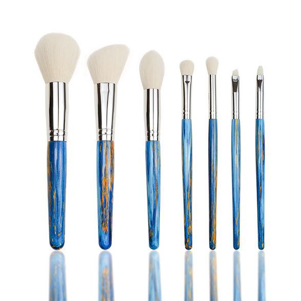 Hot selling cute body powder fan make up brush kabuki brush girls makeup brush set