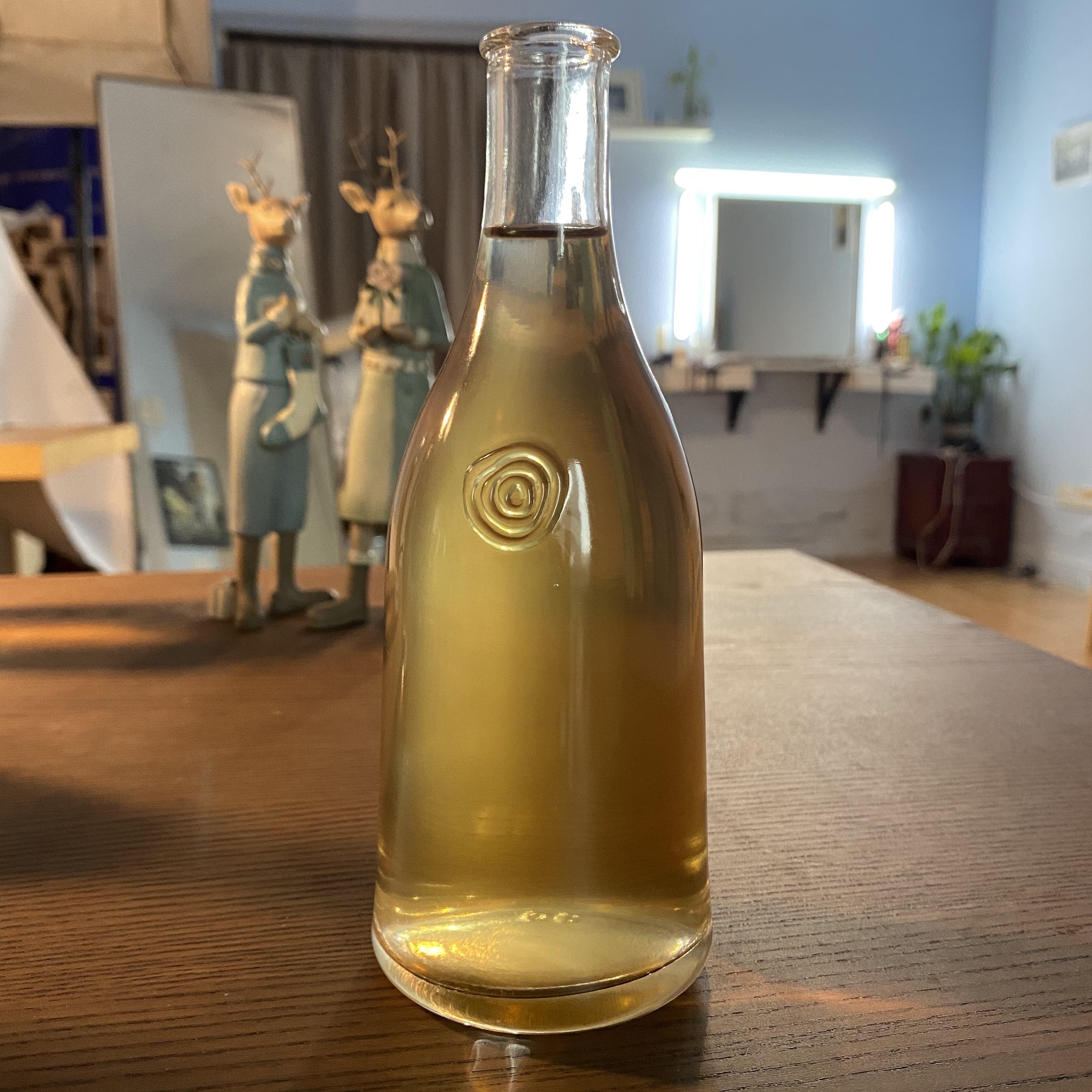 Hoson 250ml Transparent En Verre Vide De Conception Personnalisée Liqueur Bouteille D'emballage