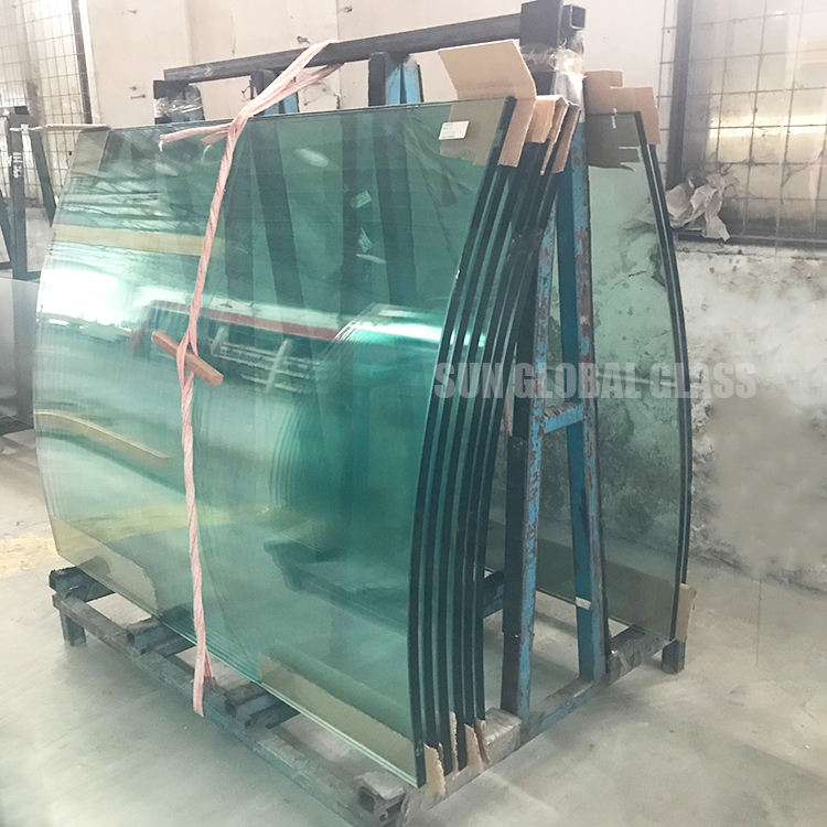China factory clear 10mm fully tempered curved glass price custom bent shape toughened glass manufacturer harga kaca lengkung