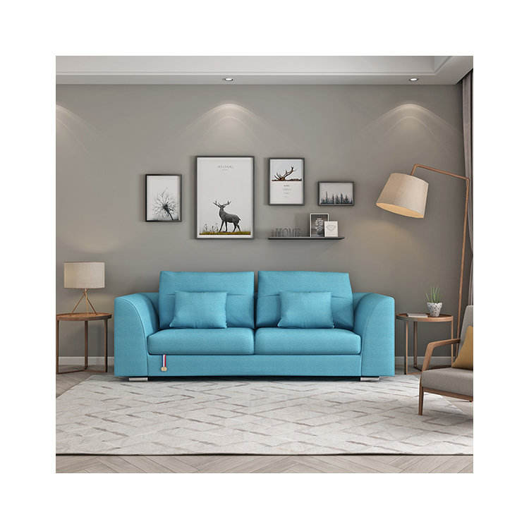 furniture factory provided fabric living room 2-3 seater technology cloth sofa set