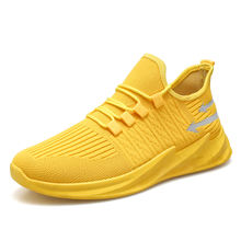 Hot selling yellow shoes men gym custom casual sneakers
