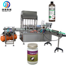 JB-JG6 automatic 150ml yogurt glass and plastic bottle 6 head nozzle filling and capping machine