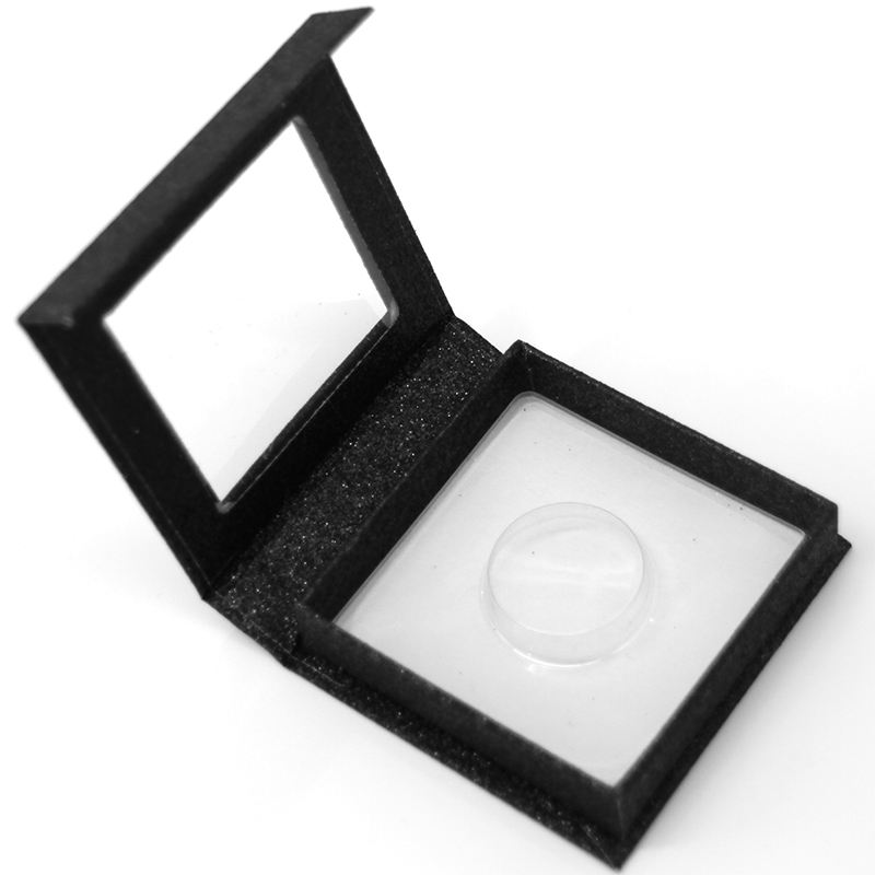 Square eyelash Box Black 3D mink eyelash packing box 1 pair of eyelash boxes