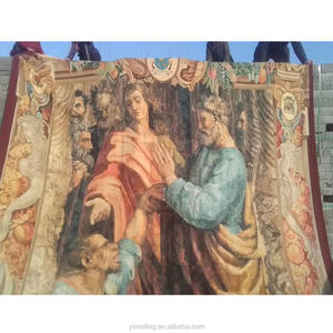 Customize Oversize Handmade Wool French Aubusson Tapestry of Italian Renaissance for Wall Hanging