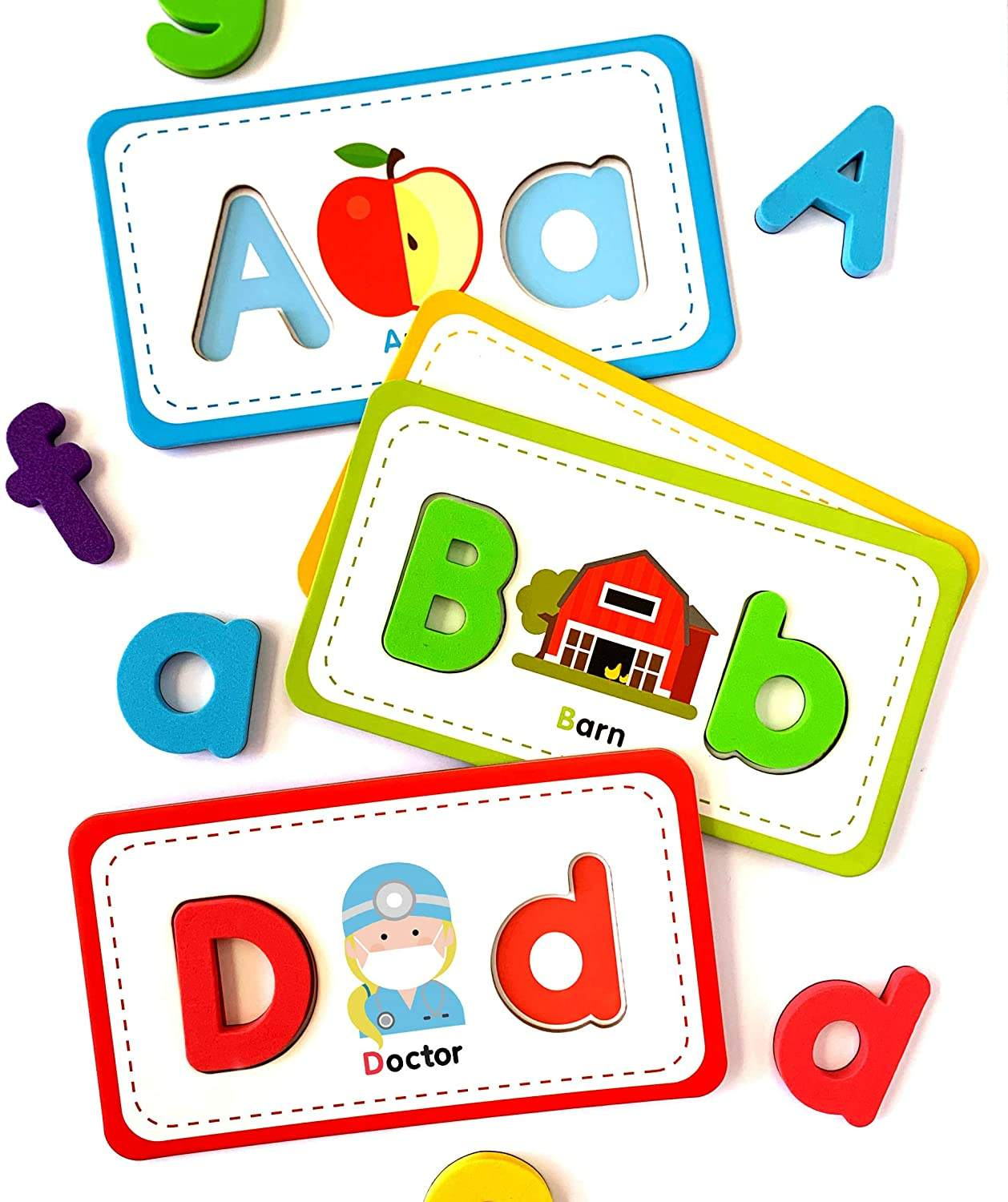 Magnet Flashcards and Foam Letter Set Toddler Games to Learn to Read, Spell and Practice Phonics.
