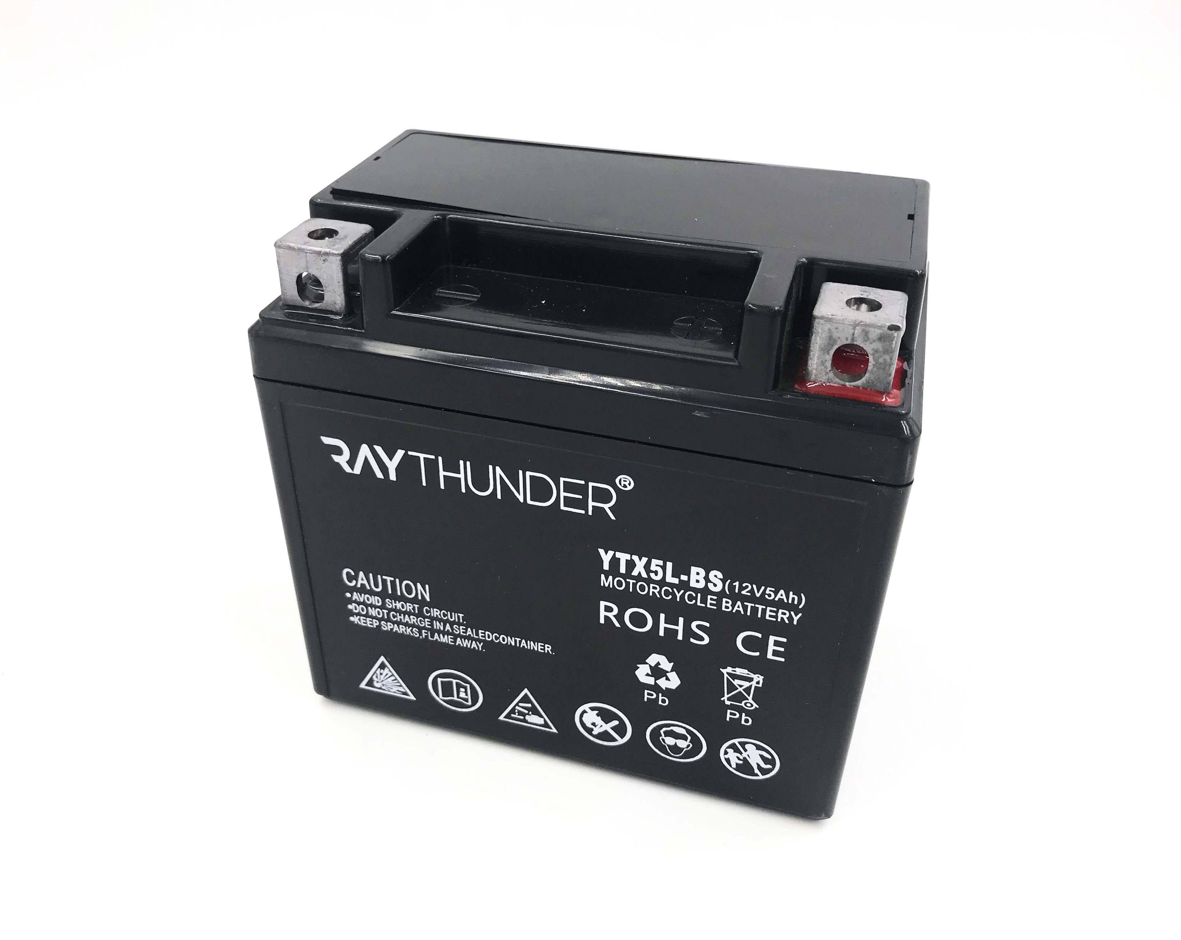 YTX5L-BS 12N5-BS 12V 5AH Motorcycle spare parts and accessories motorcycle batteries