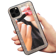 HOCAYU New Design Fashion Women Bling Glitter Diamond Mirror Phone Case For Iphone X Xs Max Xr 11 Pro Max SE 2020