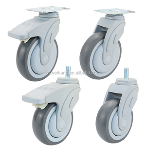 Factory WeiHang 4 hospital bed castors medical grade caster wheels with lock