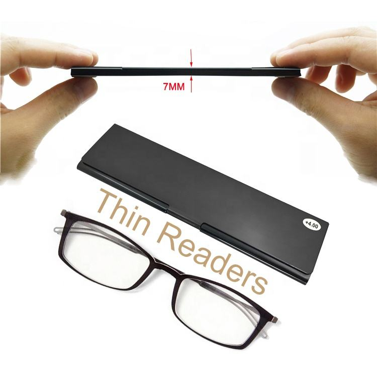 2020 TR High quality mobile phone metal mini super thin reading glasses anti blue light reading glasses with case