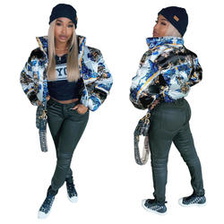 Ready to ship winter casual women lady puffer short bubble c