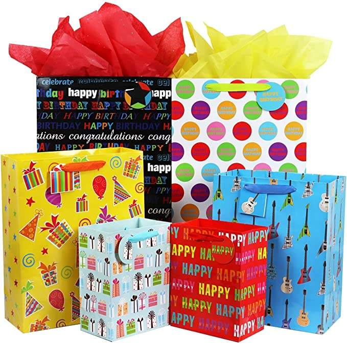 Wedding Baby Gift Paper Bags Celebration and Birthday Party Variety Sizes of Children Ladies Men Gift Packaging Customized 4C