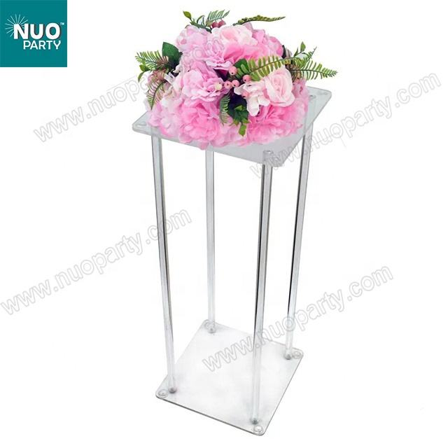 100cm Crystal acrylic flower stand chandelier table centerpiece wedding decorations